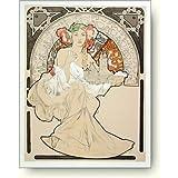 リトグラフ アルフォンス・ミュシャ Alphonse Mucha: Woman with Cathedral
