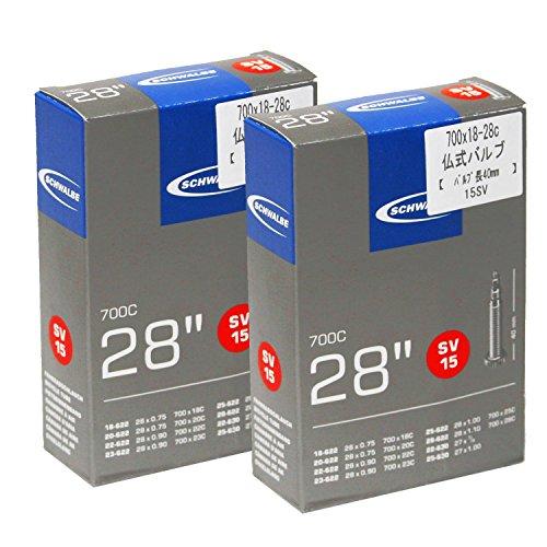 SCHWALBE(シュワルベ) 【正規品】700x18-28Cチューブ 仏式 40?バルブ 15SV 【2個セット】