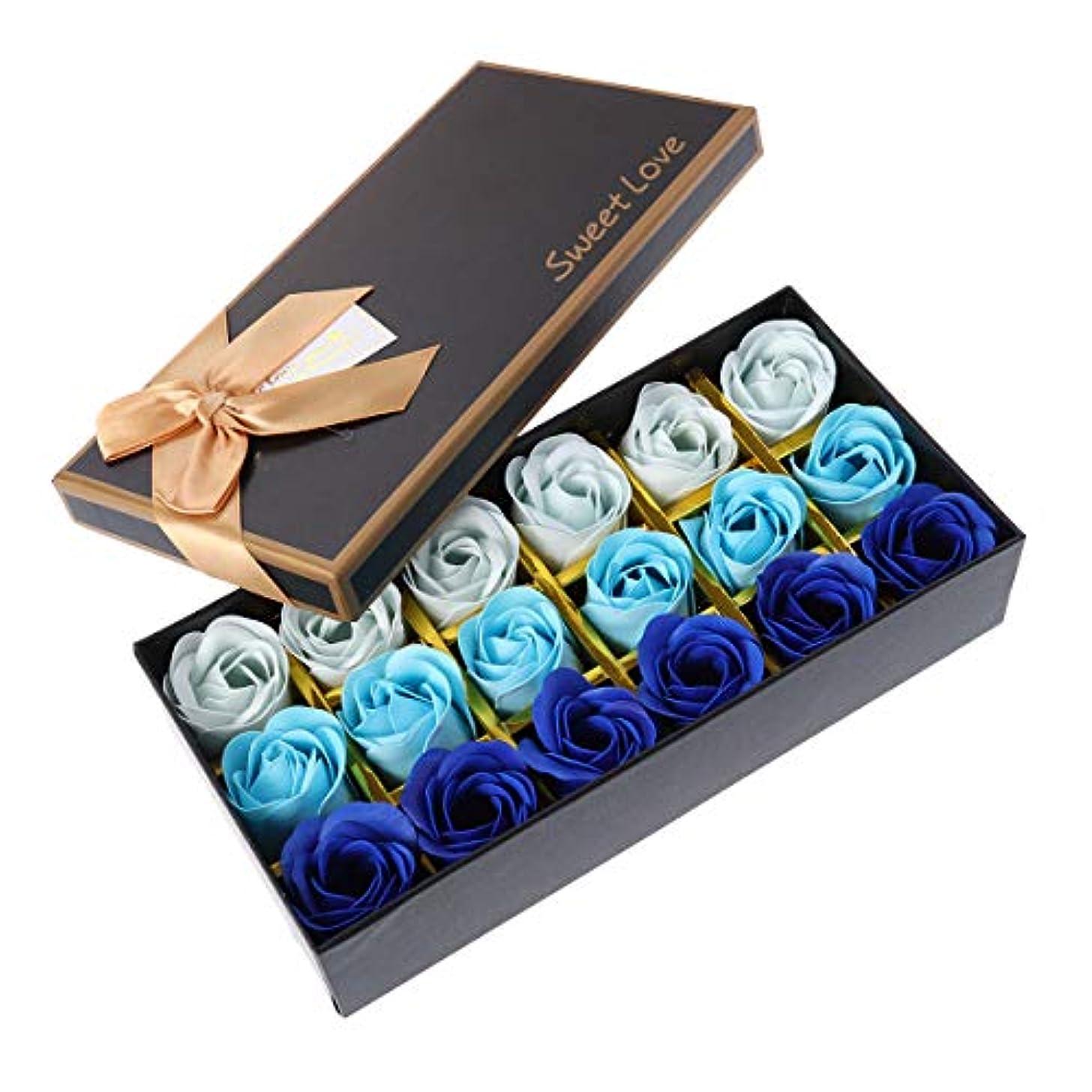 パウダー放棄された口実Beaupretty バレンタインデーの結婚式の誕生日プレゼントのための小さなクマとバラの石鹸の花