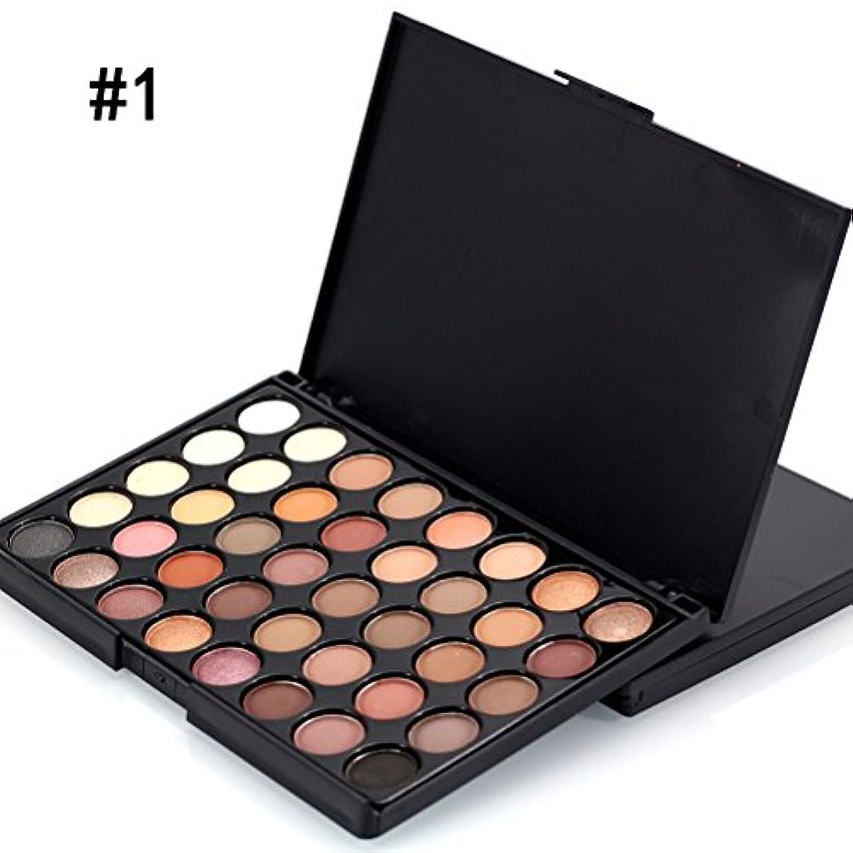 サロン酸度飛行場MakeupAccプロ仕様40色アイシャドウパレット ラメ マット アイシャドウボックス お洒落 アイメイクツール メイクアップパレット 化粧セット コスメ (#1)