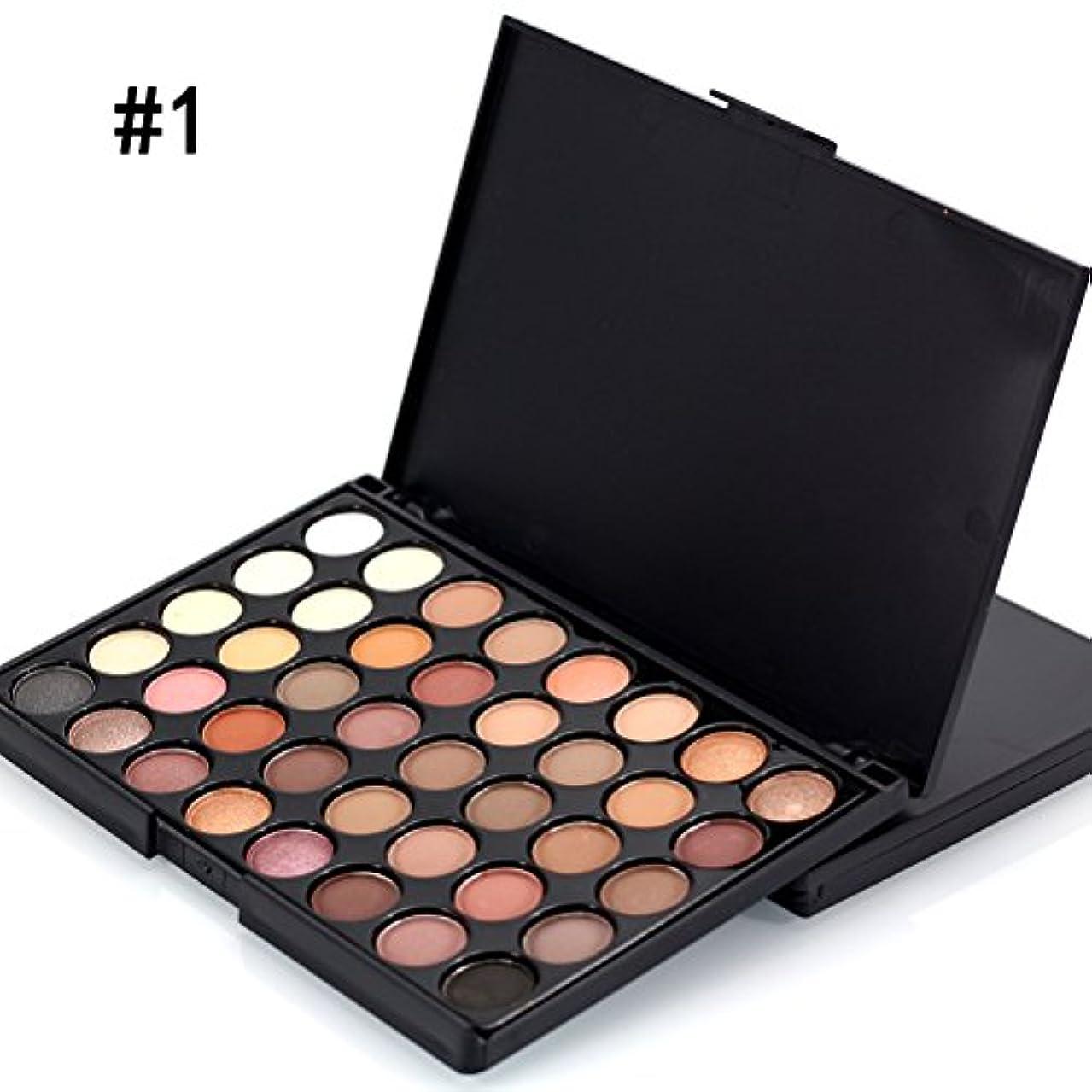 家事をするヒール浪費MakeupAccプロ仕様40色アイシャドウパレット ラメ マット アイシャドウボックス お洒落 アイメイクツール メイクアップパレット 化粧セット コスメ (#1)