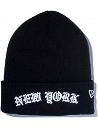 (ニューエラ) NEW ERA ニット帽 カフ NEW YORK ARCH LOGO ブラック FREE