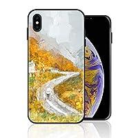 iPhone XS Max 携帯ケース 油画 黄色い 山脈 ケース 最新製品 防塵 軽量 薄型 擦り傷防止 耐衝撃 全機種対応 スマホ用 ソフトケース 防塵 シリコン 人気 バンパーケース スリム設計 携帯カバー