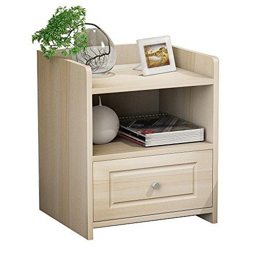 Soges サイドテーブル 木製 ナイトテーブル チェスト マガジンラック は 机 テーブル 〔ロータイプ〕メープルチェリー色