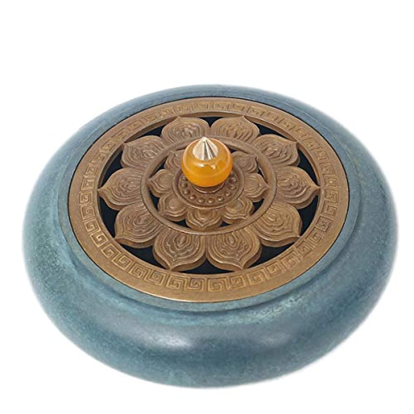 食堂制約ドラフトコーン香バーナーと真鍮香スティックホルダー-中国銅装飾炭香炉-銅香灰キャッチャートレイボウル