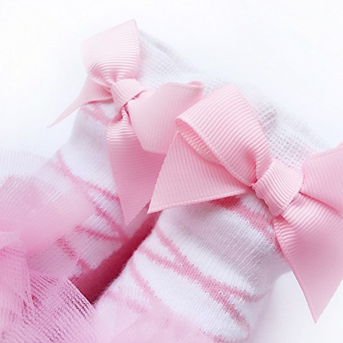 9619aad4f01d5 Sanlutoz ベビーソックス 新生児用靴下 女の子 赤ちゃん くつした お祝い 出産 祝い 可愛い プレゼント (0-12 M 対応足裏の長さ  8-11cm(薦め年齢:新生-12ヶ月)