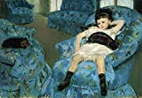 おしゃれ&かわいいアート 名画アートコレクション 101 メアリーカサット作 「青い肘掛け椅子の少女」 ≪白いフレームセット≫