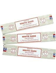 Satya Nag ChampaホワイトセージIncense Sticks – 3パック