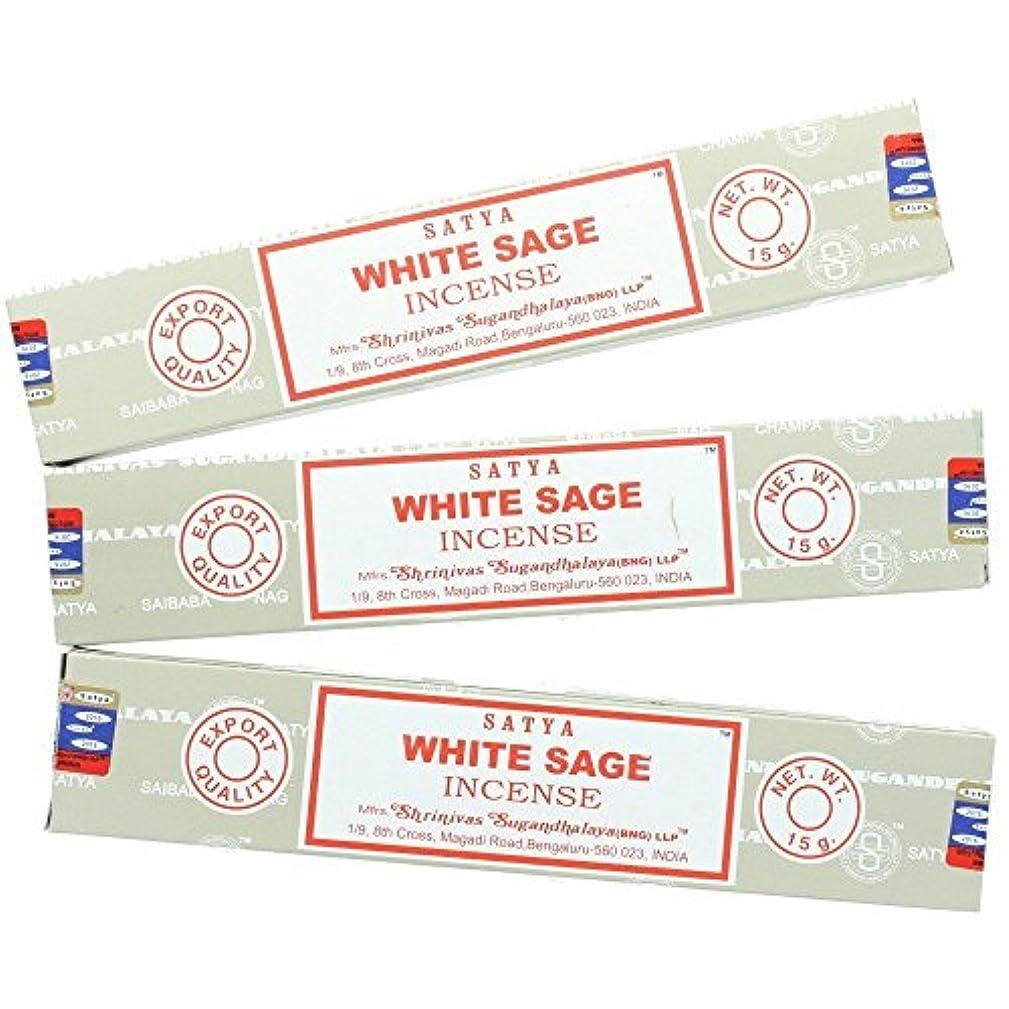 データ逸話緊張するSatya Nag ChampaホワイトセージIncense Sticks – 3パック