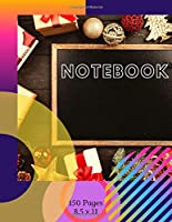 NOTEBOOK: 150 Blank Writing Pages, Plain Notebook - (8.5 x 11 inches) Large