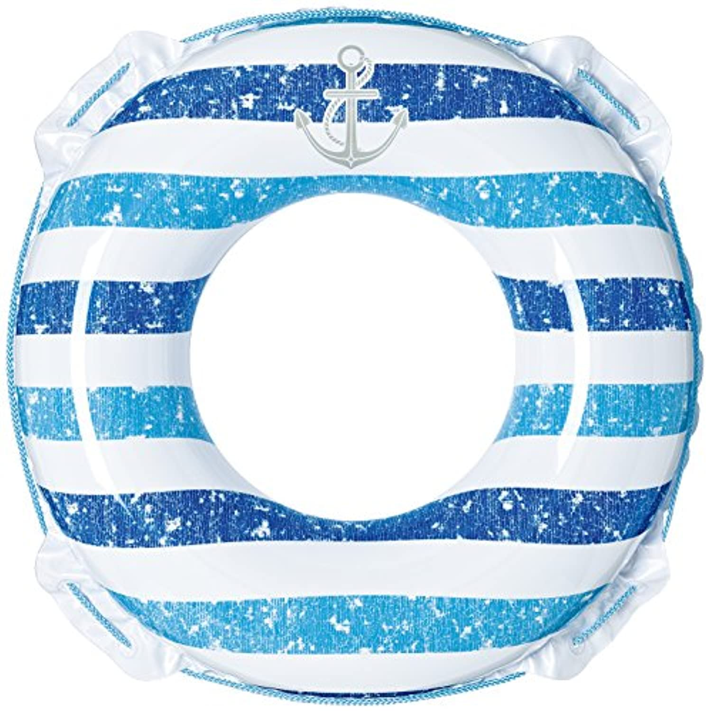 ヴィンテージボーダーウキワ(ブルー) 80センチ