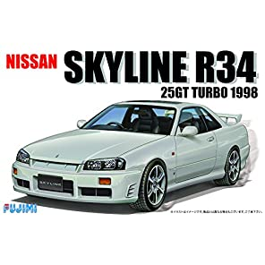 フジミ模型 1/24 インチアップシリーズ No.124 ニッサン R34 スカイライン25GT ターボ1998 プラモデルID124