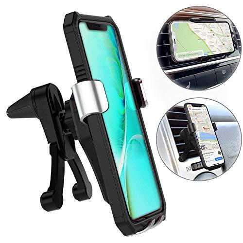 スマホ 車載ホルダー Valued【2019最新型】 新型重力固定式 エアコン吹き出し口取り付けカーホルダー 落下防止 360°回転 4.7-6.5インチ iPhone Samsung Huawei Sony 多機種対応