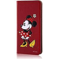 レイ・アウト iPhone7 ケース ディズニー 手帳型 レザーケース(ICカード/スタンド機能) ポップアップ スタンディング/ミニーマウス RT-DP12J/MN