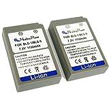 Nucleus Power 2個セット オリンパス BLS-1 / BLS-5 互換バッテリー BI-2-O(BLS)
