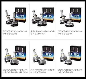 SPHERELIGHT スフィアライト LED コンバージョンキット H1 【車検対応LED】 6000K ヘッドライト SHDPA060