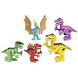 Jurassic World - B8409 - Playskool Heroes Toy - Jurassic World Dinosaur Rumble 5 Figure Playset - Raptor Spinosaurus T-Rex