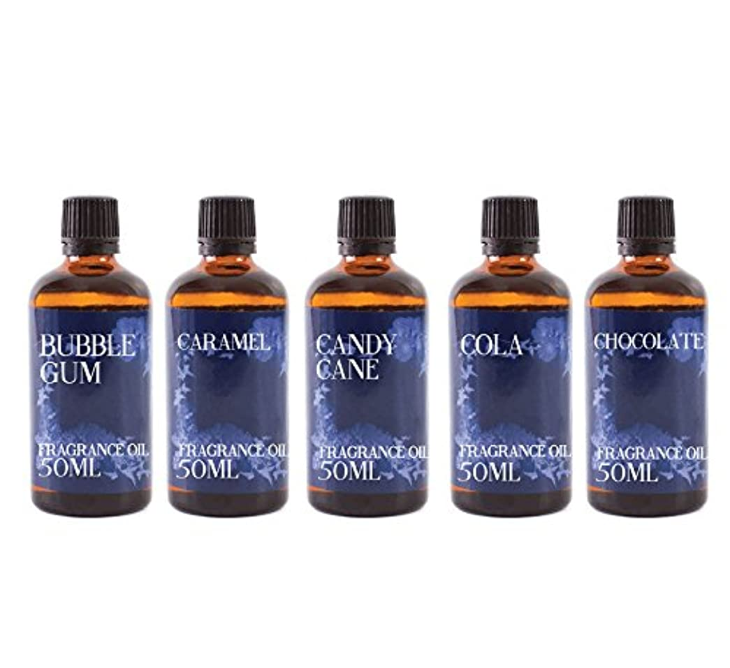 通行料金ラグかまどMystic Moments | Gift Starter Pack of 5 x 50ml Sweet Shop Fragrant Oil