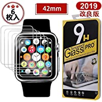 Serkou  Apple Watch Series 3  42mmフィルム 2.5D加工 クリア(6枚入り)