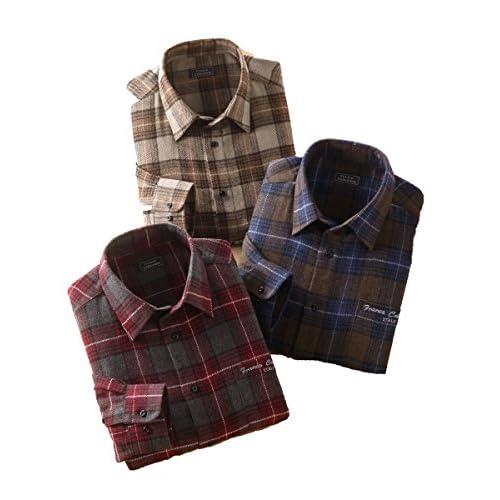 Franco Collezioni フランコ・コレツィオーニ ウール入り暖かシャツ 3枚組 41079 LL