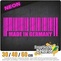Made in Germany - 3つのサイズで利用できます 15色 - ネオン+クロム! ステッカービニールリアウインドウ