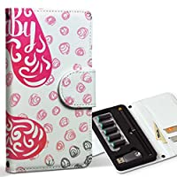 スマコレ ploom TECH プルームテック 専用 レザーケース 手帳型 タバコ ケース カバー 合皮 ケース カバー 収納 プルームケース デザイン 革 足形 ベビー ピンク 011384
