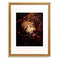 Unterberger, Franz Sebald (Umkreis) 「Adoration of the Shepherds.」 額装アート作品