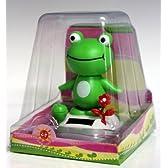 ソーラー電池式 頭腰振りカエル 蛙
