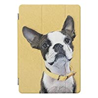 RECASOボストンテリア 絵画 かわいい元 犬 芸術 iPad2/iPad3/iPad4 用 スマートカバー ケース ipad2 ケース アイパッド ipad3 ケース ipad4 三つ折り保護カバー TPUケース ソフトケース 軽量・極薄タイプ スリープ タブレット ケース