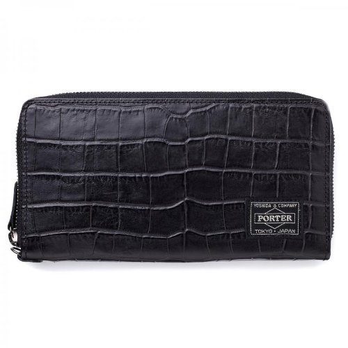 (ヘッド・ポーター) HEAD PORTER | CROCO | WALLET (L) BLACK