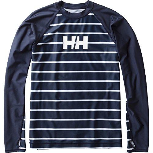 HELLYHANSEN(ヘリーハンセン)ラッシュガードL/SBorderRashguard(ボーダーラッシュガード)ヘリーブルー(HB)XLサイズHE81712