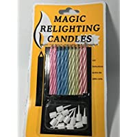 3 Pack of Colorful MAGIC Birthday Candles Trick Best For Party Birthday Christmas Celebration [10 Pieces Per Pack] [並行輸入品]