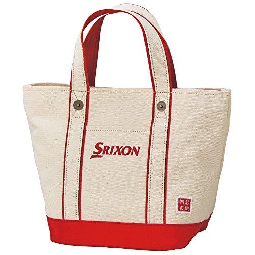 DUNLOP(ダンロップ) SRIXON 帆布ラウンドトートバッグ  GGF-B4008 レッド