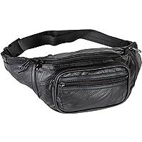 Home-X Genuine Leather Lambskin Waist Bag, Fanny Pack