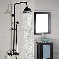 レトロシャワー雨シャワーミキサーセットコンボシステムマウント壁雨シャワーヘッド調整可能なハンドシャワーBlackberry