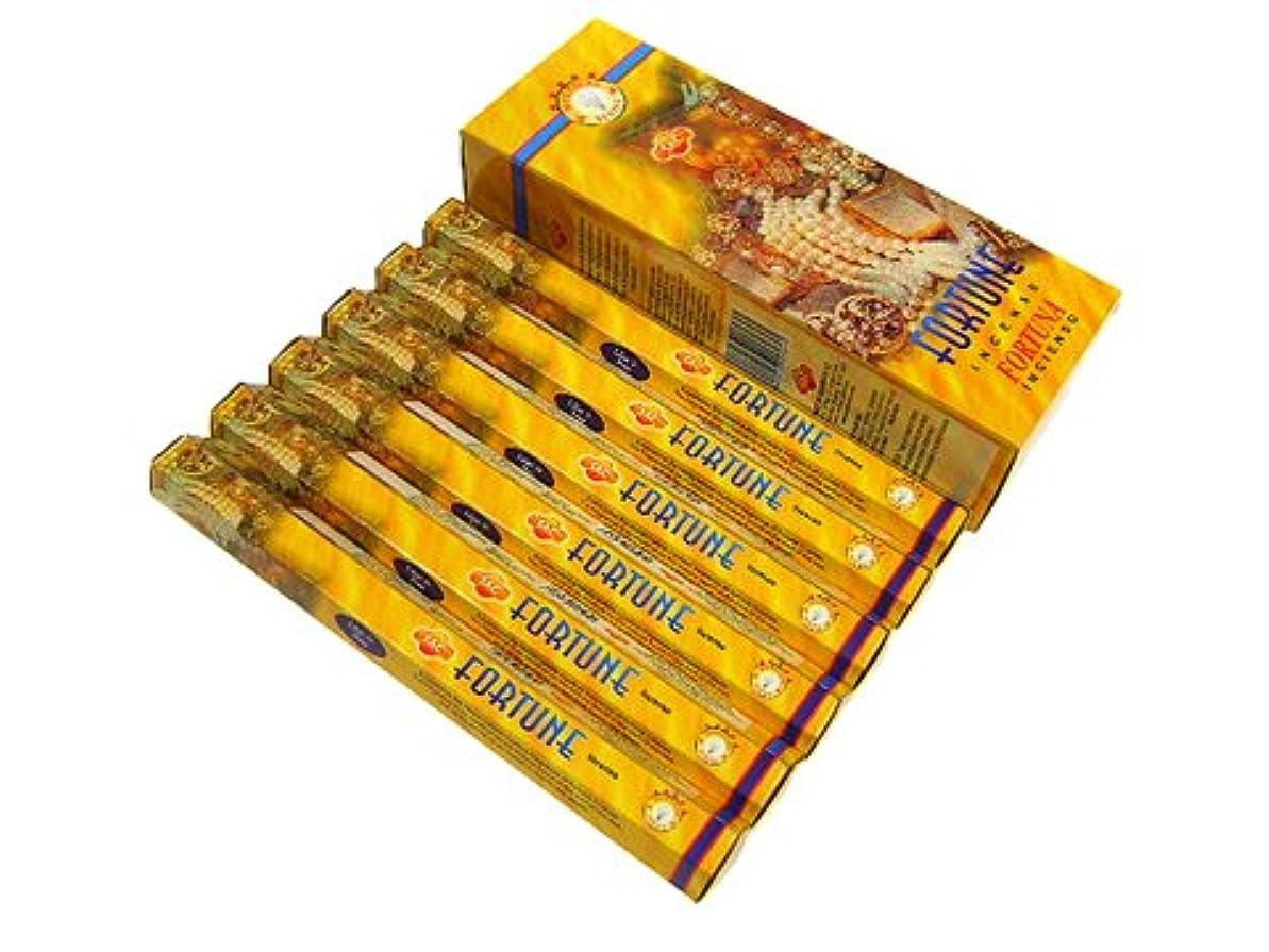成分農学木製SANDESH SAC (サンデッシュ) フォーチュン香 スティック FORTUNE 6箱セット