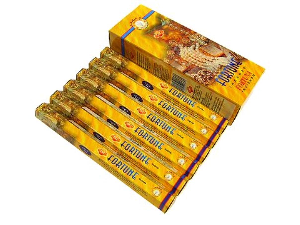 笑い靄国民SANDESH SAC (サンデッシュ) フォーチュン香 スティック FORTUNE 6箱セット