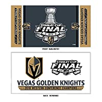 WinCraftラスベガスGolden Knights 2018 Stanley Cup Final Western Conf Champsベンチタオル