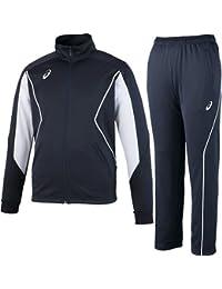 [アシックス] トレーニングジャケット&パンツ 上下セット ネイビー EZT143 50/EZT243 50