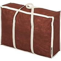 アストロ 羽毛布団収納ケース 持ち手付 不織布製 ブラウン 羽毛布団をすっきり収納できます! 180-11
