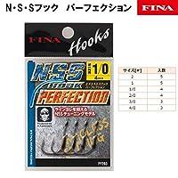 ハヤブサ(Hayabusa) シングルフック NSSフック パーフェクション 2号 5本 ブラックニッケル FF203