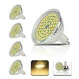 4個入 MR16 GU5.3 LED電球 埋め込み式照明 4W 60 SMD 2835 省エネ LEDスポットライト高輝度 450LM 電球色 3000K 屋内照明使用 省エネ 120°ビーム角度[並行輸入品]