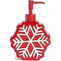 聖ニコラス正方形クリスマスTraditionsスノーフレークソープポンプレッドソープディスペンサー