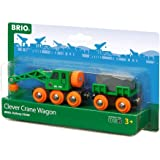 BRIO 33698 Clever Crane Wagon Set,Red