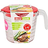 Decor Cook Glass Measuring Jug with Lid, 650mL, Clear