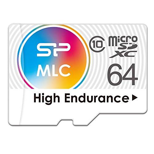 シリコンパワー 高耐久 ドライブレコーダー用 microSDXCカード 64GB Class10 MLC NANDフラッシュ採用 2年保証 SPA064GMSDIU3