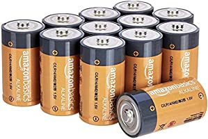 AmazonBasics C Cell Everyday Alkaline Batteries, 12ct