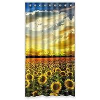ファッション ヒマワリ カスタム ウィンドウカーテン遮光52x96 約132cm(W)x 244cm(H)