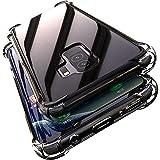 Samsung Galaxy S9 Plus ケース/Samsung Galaxy S9+ ケース クリア 全透明 軽量 薄型 耐衝撃 TPU 透明ケース 防塵 指紋防止 ソフト 擦..
