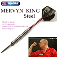 WINMAU MERVYN KING Steel (マーヴィン・キング) 22g ハードダーツ/スティールダーツ/バレル/矢